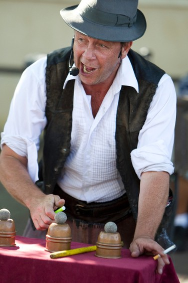 Nick Nickolas performs a magic show during the Edmonton International Fringe Theatre Festival held in Edmonton, Alberta on Aug. 19, 2012. The festival continues until Aug. 26. IAN KUCERAK/EDMONTON SUN/QMI AGENCY