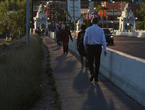 Downtown pedestrians
