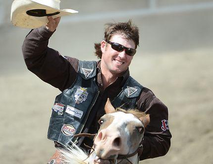 Cort Scheer Enjoys Saddle Bronc Win At Calgary Stampede