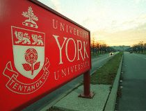 York University sign
