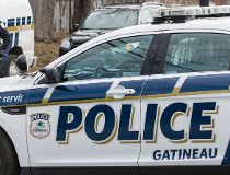 Gatineau police cruiser lights