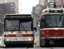TTC bus streetcar