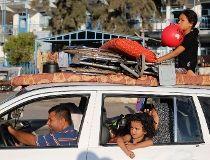 Palestinian family in Gaza