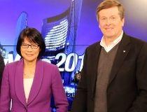 Olivia Chow and John Tory
