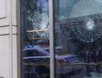 CBC's HQ windows smashed