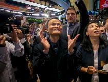 Alibaba Group Holding Ltd founder Jack Ma and CFO Maggie Wu