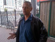 Terrence Campbell outside the Waller St. shelter on Thursday, Oct. 23. (JOE WARMINGTON/Toronto Sun)