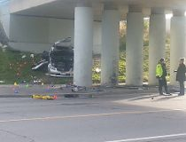 Merivale Rd crash scene