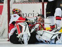 NHL: Ottawa Senators at Chicago Blackhawks