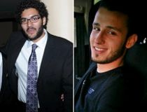 Youssef Sakhir, left, Samir Halilovic, centre, and Zakria Habibi