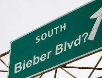 Bieber blvd. photo illustration