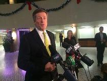 Mayor-elect John Tory speaks to reporters at Toronto City Hall on Tuesday, Nov. 25, 2014. (DON PEAT/Toronto Sun)