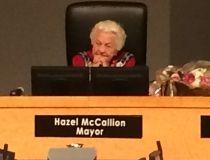 Mississauga Mayor Hazel McCallion presides over her last council meeting. (CRAIG ROBERTSON/Toronto Sun)