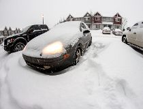 Snow blankets northeast Edmonton, Friday, Nov. 28, 2014. (MAX MAUDIE/EDMONTON SUN)