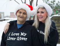 Lovin' his liver giver