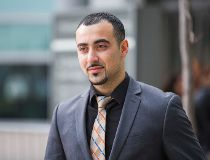 Sohill Agha leaves Brampton court on Monday Dec. 22, 2014. (ERNEST DOROSZUK/Toronto Sun)