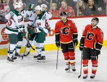 Wild defeat Flames at Saddledome