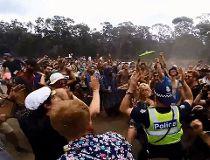 Australian cop dancing