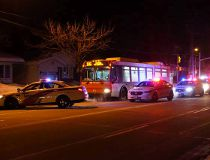 OC Transpo bus window smashed
