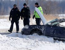 Hwy. 416 crash, Bankfield Rd., man thrown into lanes