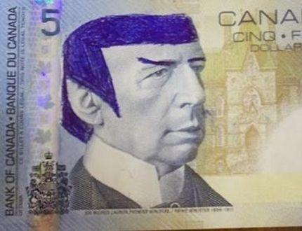 'Star Trek' fans told to stop 'Spocking' Canadian $5 bill