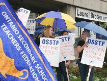 Teacher protest Ontario