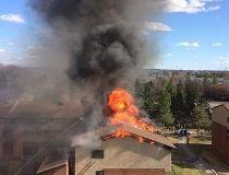 4-alarm blaze multi-storey unit