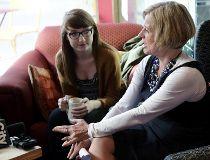 NDP Leader Rachel Notley speaks to students on restoring the Summer Temporary Employment Program