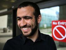 Omar Khadr speaks outside court
