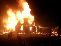 William Cross Homestead in Chelsea burns in fire