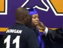 Katherine Jackson for deceased son Aaron Dunigan's graduation Chicago