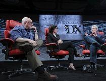 Tim Cook with Re/Code's Walt Mossberg and Kara Swisher