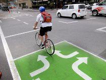 bike lane cycle track 12 ave. s.w.