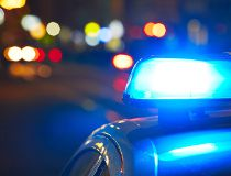Police lights, cruiser