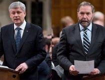 Harper, Mulcair, Trudeau