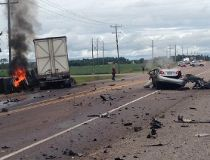 Hwy. 17 transport truck, car crash