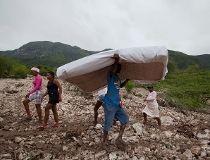 Rain-soaked Montrouis, Haiti