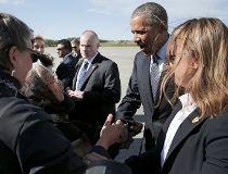 Obama arrives in Alaska