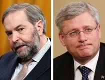 Harper Mulcair and Trudeau
