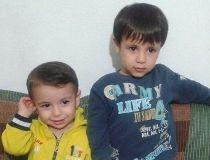 Alan Kurdi, left, and his brother Ghalib Kurdi