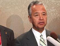 Japanese trade minister Akira Amari