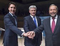 Trudeau, Harper and Mulcair
