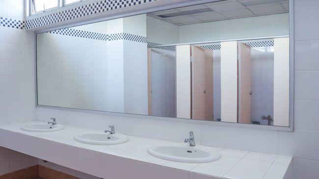 High school bathroom