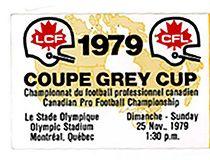 1979 Grey Cup Edmonton Eskimos