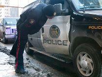 Police van crash