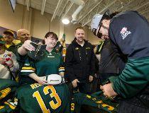 The Edmonton Eskimos return to Edmonton as Grey Cup 103 champions