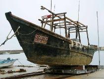 North Korea wooden boat