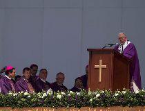 Pope Francis celebrates Mass in Ecatepec, Mexico