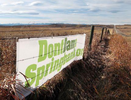 Redwood Meadows joins Tsuut'ina battle against Springbank dry dam - Calgary Sun