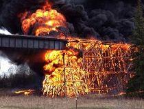 Mayerthorpe bridge  fire